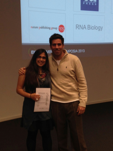 2013 : Ezgi Hacisuleyman Wins Poster Prize at EMBL Noncoding Genome Conference