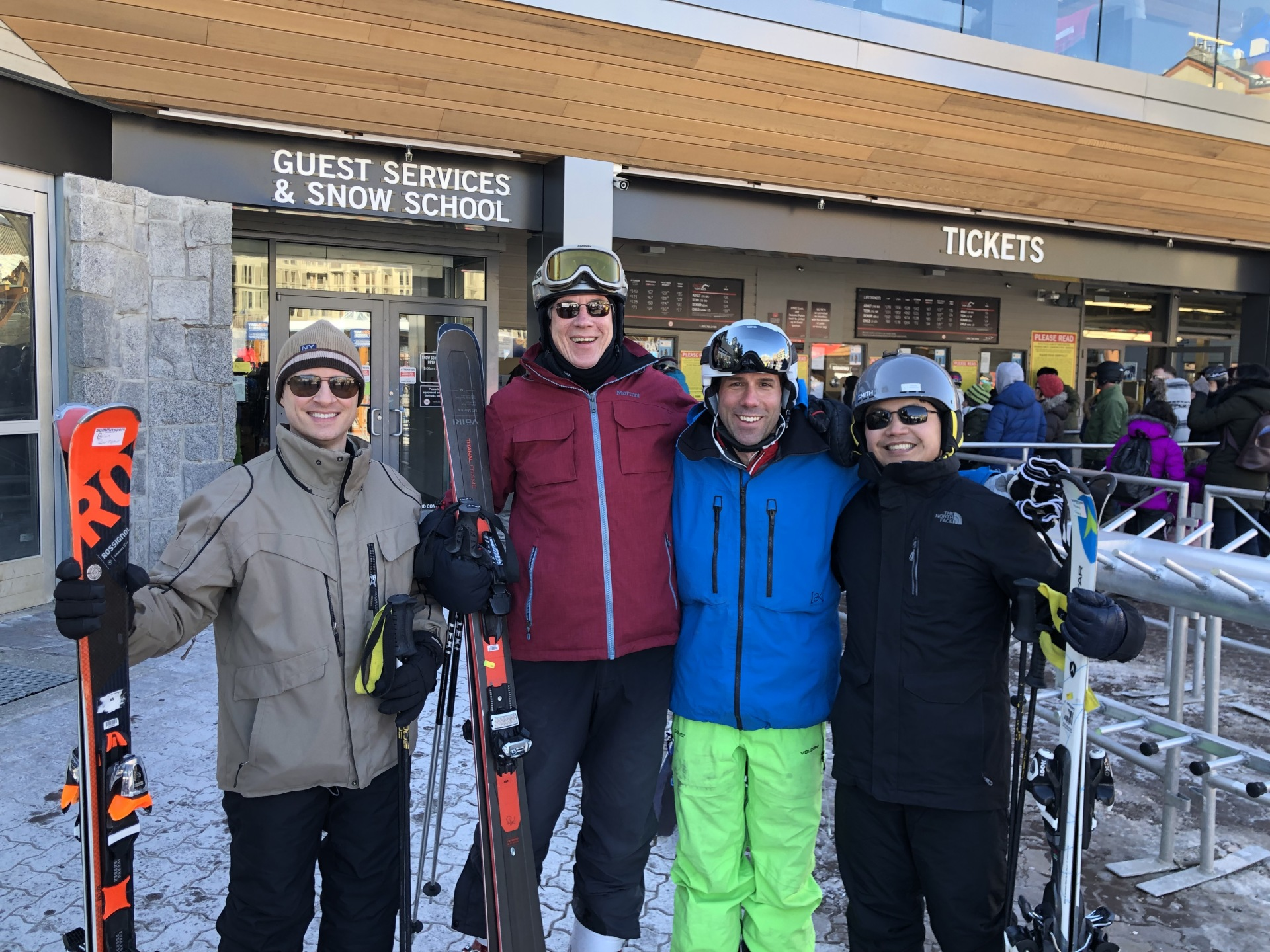 Skiing with Howard Chang !