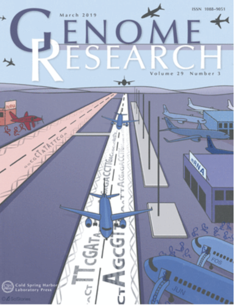 Marta and Kaia's paper gets the cover of Genome Research